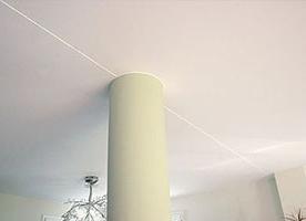 Натяжные потолки со швом